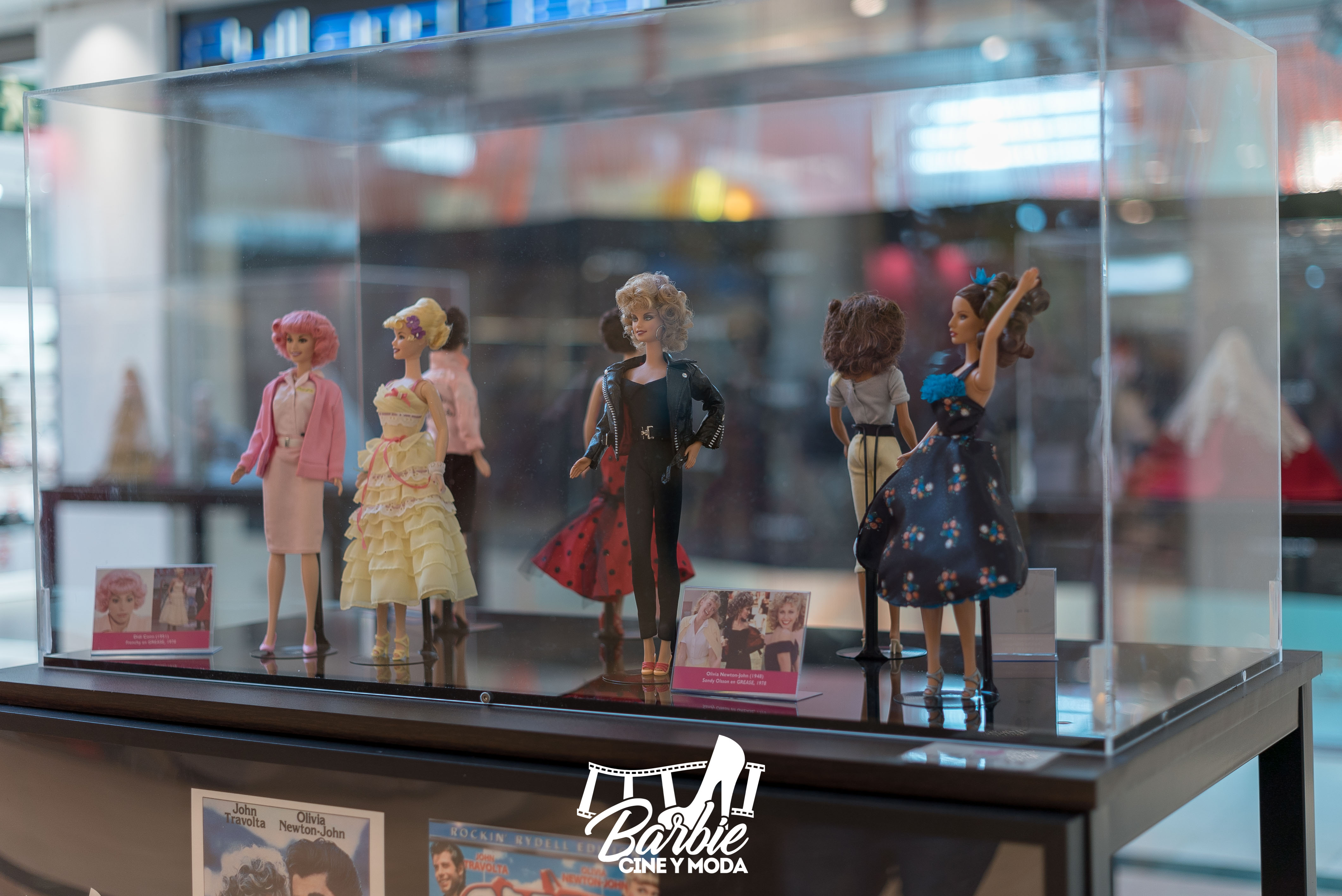 Muñecas Barbie de la exposición